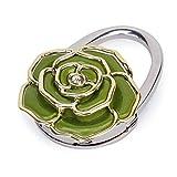 Pixnor Rose Blumen förmigen Klapp Handtasche Handtasche Hanger Tisch Haken Taschenhalter (grün)