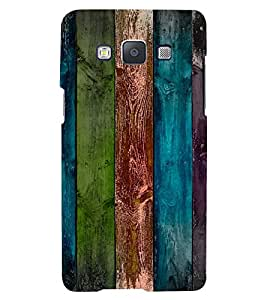 PrintVisa Colorful Wooden Pattern 3D Hard Polycarbonate Designer Back Case Cover for Samsung Galaxy E5