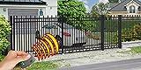 SO71 Einfahrtstor Hoftor Doppelflügeltor Gartentor Nizza 350 x 160 cm, mit Pforte 104 cm und elektr. Antrieb, Komplett-Set inklusive 2 Torflügeln, 1 Pforte, 3 Stahlpfosten, Beschlägen und 1 elektr. Antrieb mit 2 Fernbedienungen. Gesamtbreite ist ca.497 c