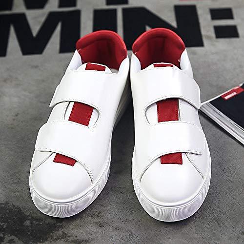 Jugend Rot Leder Kinder Schuhe (LOVDRAM Stiefel Männer Frühling Und Herbst Studenten Schuhe Herrenschuhe Fashion Line Jungen Schnalle Mode Schuhe Jugend Niedrig, Um Freizeitschuhe Schuhe Zu Helfen, Rot, 39)