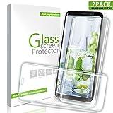 Youer Protector de Pantalla Samsung Galaxy S9 Plus, [2-Unidades] 3D Touch Compatibles HD Cristal Templado Pantalla, 9H Dureza, Anti-rasguños, Libre de polvo, No Burbujas, HD Vidrio Templado Protector para Galaxy S9 Plus - Transparente