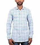 Maclavaro Mens Casual Shirt_9whitechcks_...