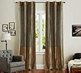 Deco Window (Set of 2) Curtain Stripe Ba...