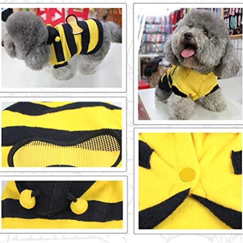 ASOSMOS Katze Hundebekleidung Cute Bumble Bee Dress up Kostüm Bekleidung Mantel Kleidung ()