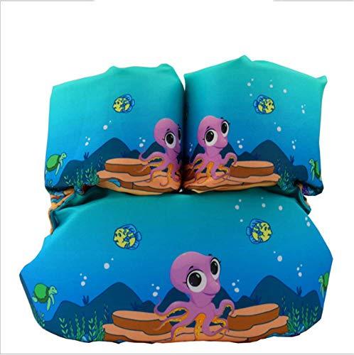 FDGT Blaue Purple Tintenfisch Kinder Schwimmen Armkreis Kleinkind-Baby-Schwimmanlage Schwimmkreis Mu Sleeves Schwimmweste