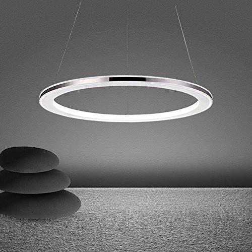 Wanson Pendelleuchte Moderne Kronleuchter Büro Wohnzimmer Anhänger Beleuchtung LED Ringleuchte Leuchten Durchmesser 30Cm 12W Acryl Lampe