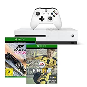 Xbox One S 500GB Konsole - FIFA 17 Bundle + Forza Horizon 3 - Standard Edition