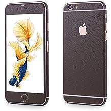 OKCS®Premium Glamoures Sticker für das Apple iPhone 6, 6s Skin Handyfolie Protector Folie Schutzfolie Slim Sticker Film in Leather-Optik in Chanel Taupe
