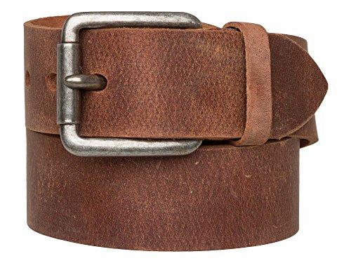 Strong Desert Vintage SDV Unisex Ledergürtel, gewachst, 45mm breit Gr. 95 cm, Brown - Cognac Braun
