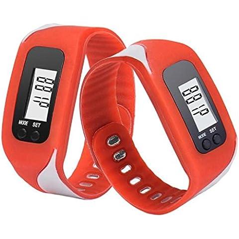 Contadores de calorías Sannysis Pulsera de actividad con pulsómetro pulsera (Rojo)