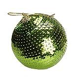 Weihnachtsbaum Kugeln Schmuck, Wawer 8CM Weihnachten Dekokugel Paillette Glitter Kugeln Ball Ornamente Weihnachtsschmuck Dekorative Kugeln Anhänger Geschenk (Grün)