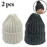Zoylink 2 Stücke Baby Mütze Minimalistischen Winter Warme Mütze Elastische Beanie Cap Für Kleinkinder