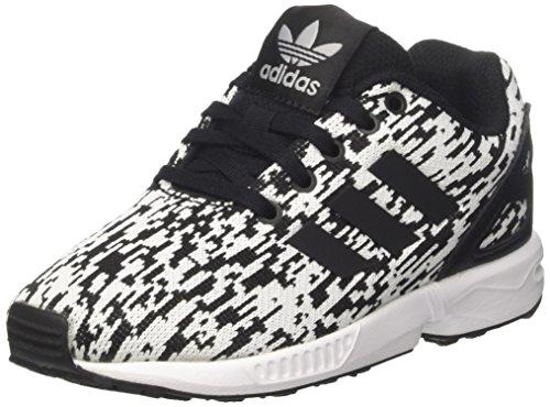 Adidas zx flux c, scarpe da ginnastica unisex – bambini, multicolore (core black/core black/ftwr white), 30 eu