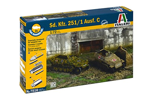 Italeri 7516 - sd.kfz.251/1 ausf. d   - fast assembly (2 pcs) model kit  scala 1:72