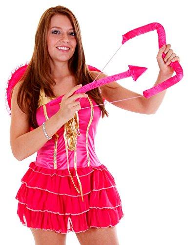 erdbeerloft - Damen Karneval Kostüm- Amor Pink Supergirl, pink gold, (Kostüm Amor Kinder)