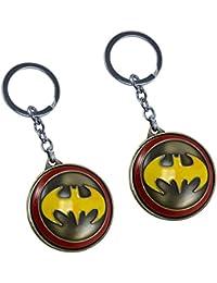 Saamarth Impex Batman Logo Shield Marked Key Chain Key Ring Set Of 2 SI-5749