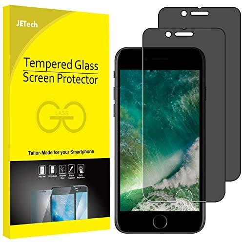 JETech Schutzfolie für iPhone 8 Plus und iPhone 7 Plus, Anti-Spähen Gehärtetem Blickschutzfolie panzerglas, 2 Stück 2 Privacy Screen Protector