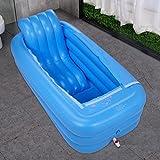TIDLT Aufblasbare Badewanne Erwachsene Wanne Warmer faltende Wanne Gepolsterte Baumwolle Verdickte Unterseite (Farbe : Blau)