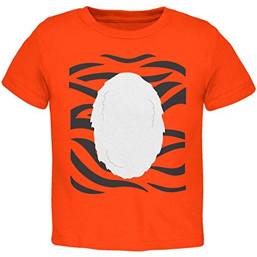 Halloween-Tiger Kostüm Kleinkind T Shirt Orange 3 (Thing Kostüm Wild)