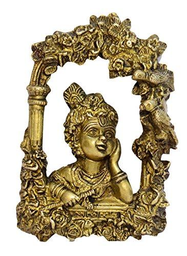 Ottone sfera metallica Krishna da parete con