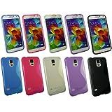 Emartbuy® Samsung Galaxy S5 Ultra Slim Gel Case Cover Tasche Hülle Schutzhülle Packung Mit 5 Mischfarben