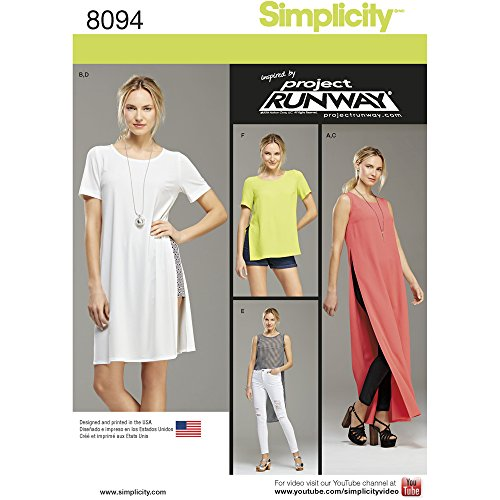 Simplicity Misses/Miss Petite Tunic With Length Variations/Shorts and Knit Leggings Sewing Pattern, Paper