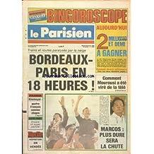 PARISIEN [No 12892] du 25/02/1986 - TRAINS ET ROUTES PARALYSES PAR LA NEIGE - COMMENT MOUROUSI A ETE VIRE DE LA TELE - MARCOS - PLUS DURE SERA LA CHUTE - KHOMEYNI - 4 FRANCAIS COMME OTAGES