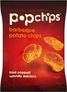 Popchips Barbeque Popped Potato Chips 23 g (Pack of 24)