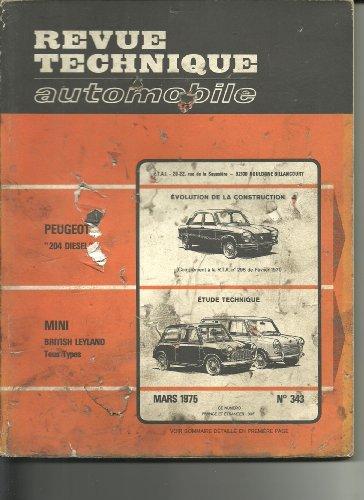 RTA Revue technique automobile 343. 1975. Mini British Leyland tous types: 850 - 1000 - Cooper - Cooper S - 1001 - 1300 - 1275 GT - Minimatic - MiniTraveler - Countryman - MiniVan - Clubman