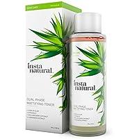 Tonico Opacizzante InstaNatural – Doppia Azione per Controllo Pelle Oleosa del Viso e Pelle Più (Serie Bottiglia Di Profumo)