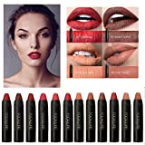 #2: Generic 02 : FOCALLURE Brand Makeup Matte Lipstick Lips Waterproof Batom Mate Lip Gloss Rouge a Levre Labial 12 Colors Soft Pencil Lipstick