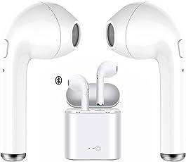 Auricolare senza fili, Auricolare Bluetooth Microfono con auricolari Mini Auricolare in-ear Auricolari Cuffie Sport auricolari con custodia di ricarica per iPhoneX 8 Plus Plus e Samsung Android