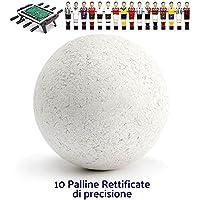 Calcio Balilla accessori. Set 10 palline professionali rettificate per gioco veloce di precisione, da torneo. Diametro mm.34, peso gr. 23.