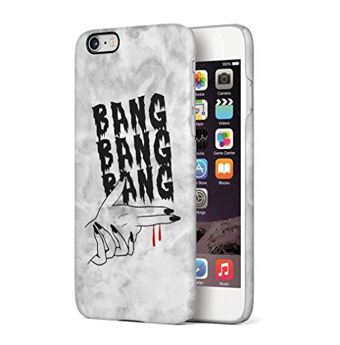 Maceste Bang Bang Bang Hand Gun Grunge Kompatibel mit iPhone 6 Plus/iPhone 6S Plus SnapOn Hard Plastic Phone Protective Fall Handyhülle Case Cover -