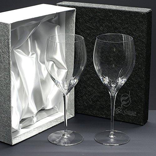 la galaica Set/Étui de 2 Coupes en Verre pour à vin ou à Eau, Collection Magnifico.