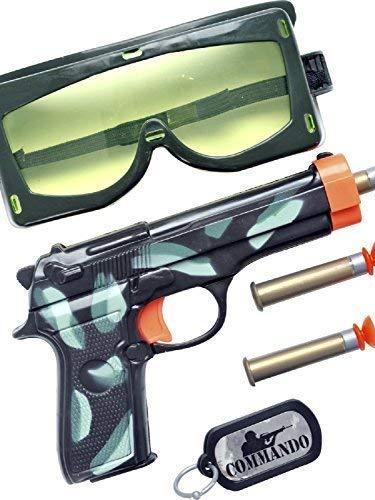 chen Militär Armee Soldaten Swat FBI Kostüm Spielzeug Zubehör Waffe Satz ()