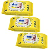 Wippee 80N With LID Baby Wipes With Almond Oil ( Pack Of 3 )