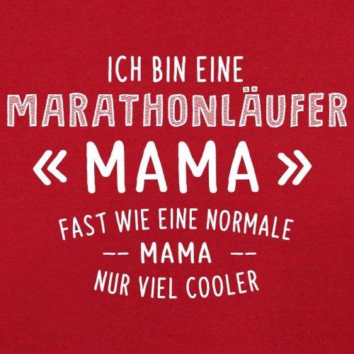 Ich bin eine Marathonläufer Mama - Damen T-Shirt - 14 Farben Rot