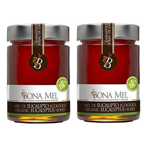 2 Stück BonaMel BIO Eukalyptushonig Imkerabfüllung Spanien kaltgeschleudert ohne Zuckerzusatz (Bio-bienenhonig)