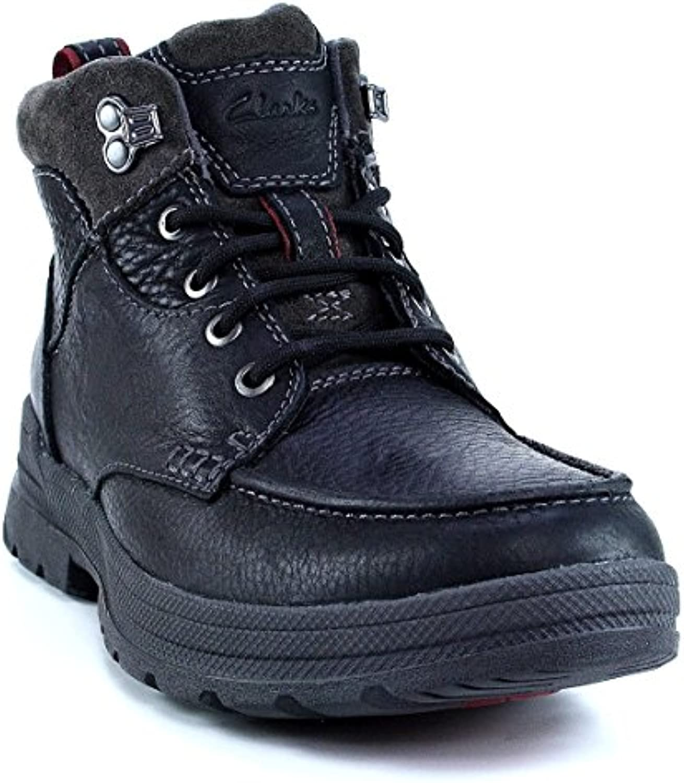 Clarks Shoes Invierno Encaje Cuero Hombres Zapatos Negro