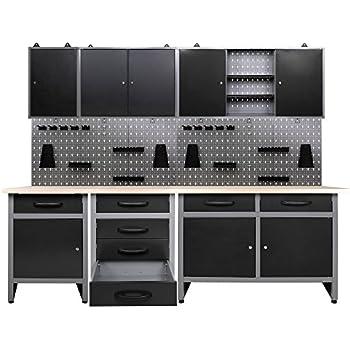 Ondis24 Werkstatteinrichtung 7 teilig grau schwarz ...