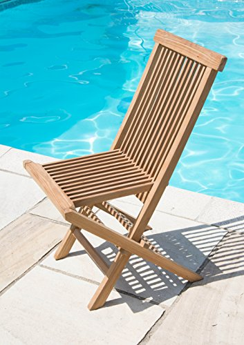 Inspiring Furniture LTD Set of TWO Classic Teak Folding Garden Chairs