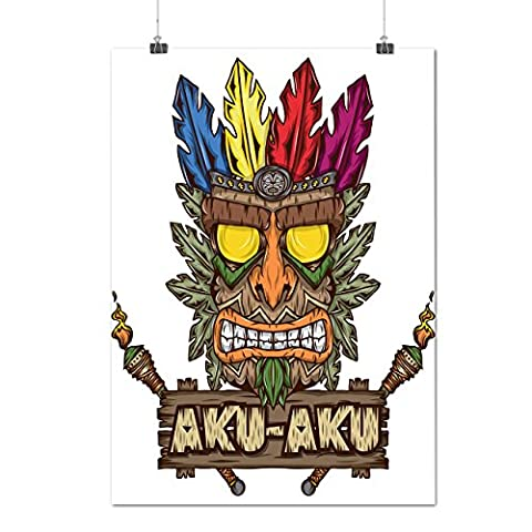 Tradition Face Mask Bandicoot Matte/Glossy Poster A2 (60cm x 42cm) | Wellcoda