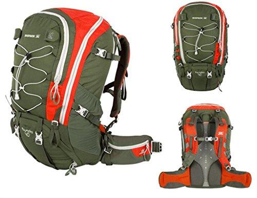 modelli maschili e femminile esterno traspirante trekking leggero campeggio borse zaino alpinismo 40L ( Colore : Vino rosso , dimensioni : 40L ) Army Green