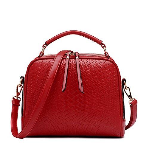 Otomoll Damen Handtasche Tote Frauen Weibliche Kupplung Crossbody Taschen Elegante Frauen Messenger Bags Schultertasche Red