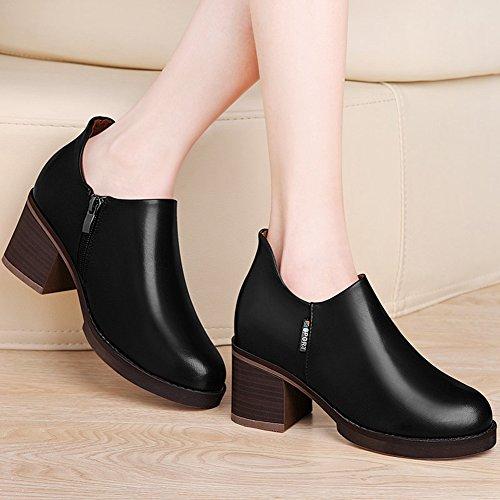 XTIAN - Stivali con le frange Donna Nero