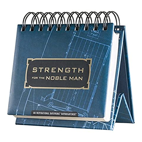 DaySpring Strength for the Noble Man, DayBrightener Perpetual Flip Calendar, 366 Days of Inspiration