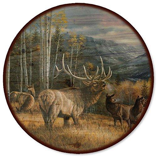WGI-GALLERY Meadow Musik Elk Lazy Susan, 45,7cm Wiese Musik