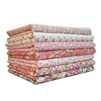 Befaith 7pcs/set Cotton Fabric For Sewing Quilting Patchwork Home Textile Pink Series Tilda Doll Body Cloth 25*25cm
