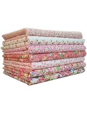 LUFA Tela de algodón 7pcs / set para el tejido de costura de costura de tejido de remiendos de casa Tela de algodón...
